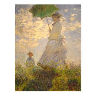 La-Promenaden-//-Regenschirm Claude Monets // Postkarte