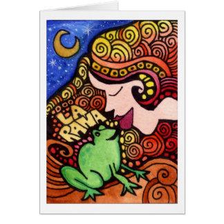 La Rana/die Frosch Loteria Karte