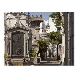 La Recoleta Friedhof in Buenos Aires Postkarte