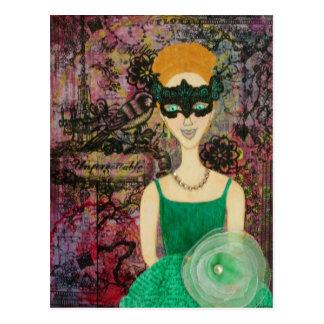La Reve de la Masquerade Postkarte