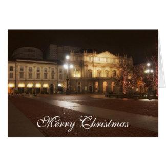 La Scala, Weihnachtsgruß-Karte Mailands, Italien Karte
