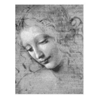 La Scapigliata durch Leonardo da Vinci Postkarte