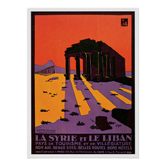 La Syrie und Le Liban/Palmyre Frankreich Vintag Poster