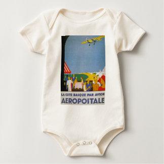 La-Taubenschlag-baskische Gleichheit Avion Baby Strampler