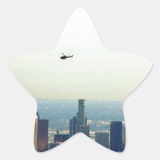 LA und Hubschrauber Stern-Aufkleber
