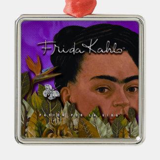 La Vida Frida Kahlos Pasion Por Quadratisches Silberfarbenes Ornament