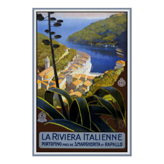 """""""La Vintages Reise-Plakat Rivieras Italienne"""" Poster"""