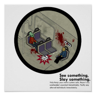 LA Zombie-Metro-Untergrundbahn-Satire Posterdrucke