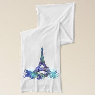 Laausflug Eiffel-Farbspritzen     Aquarellentwurf Schal