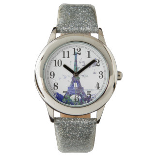 Laausflug Eiffel-Farbspritzen Armbanduhr
