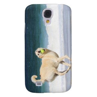 Labradoodle - glücklicher Tag auf dem Strand Galaxy S4 Hülle