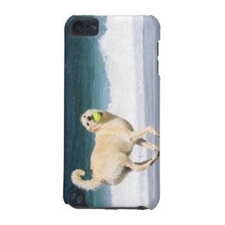 Labradoodle - glücklicher Tag auf dem Strand iPod Touch 5G Hülle