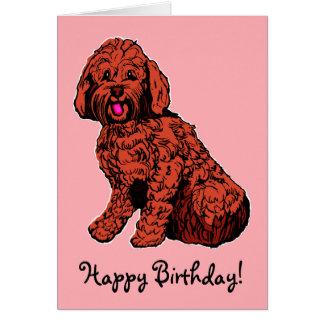 Labradoodle rosa alles- Gute zum Geburtstagkarte Karte