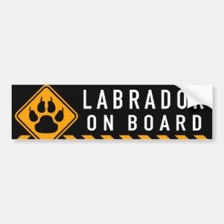 Labrador an Bord Autoaufkleber
