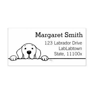 Labrador, das Sie aufpasst, Briefmarke zu Gummistempel