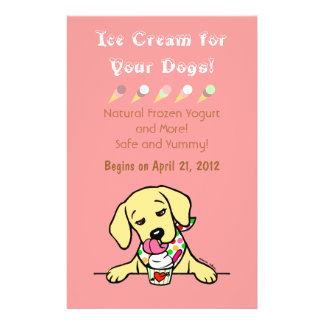Labrador-Eiscreme für HundeFlyer Flyer