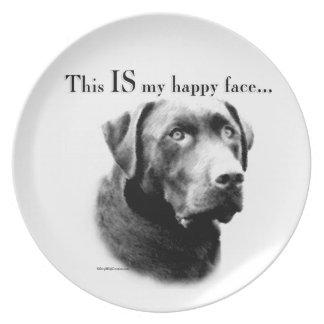 Labrador-glückliches Gesicht Melaminteller