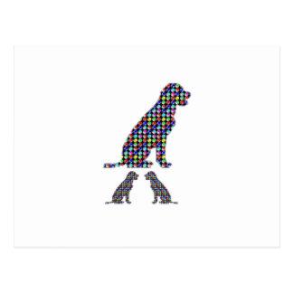 LABRADOR-Hundewelpe punktiert Haustier NVN93 Postkarte