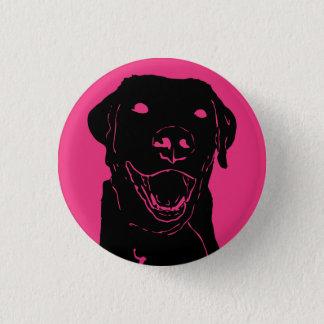 Labrador-Liebe Runder Button 2,5 Cm