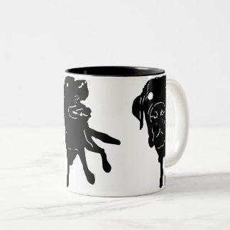 Labrador-Liebe-Tasse Zweifarbige Tasse