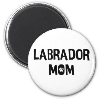Labrador-Mamma Runder Magnet 5,7 Cm