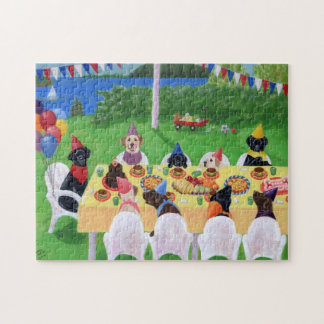 Labrador-Party-Malerei Puzzle