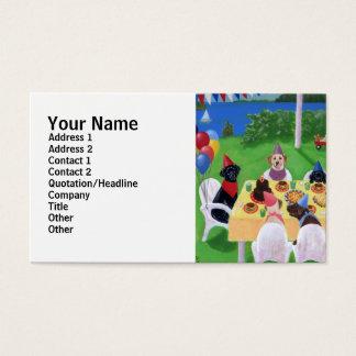 Labrador-Party-Malerei Visitenkarte