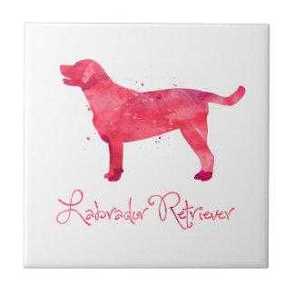Labrador retriever-Aquarell-Entwurf Keramikfliese