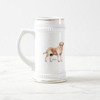 Labrador retriever bierglas
