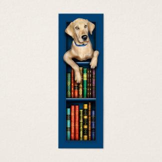 Labrador-Retriever-Blau-Lesezeichen Mini Visitenkarte