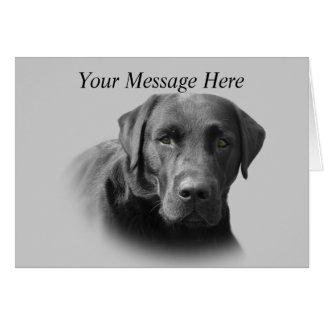 Labrador-Retriever-fantastische Gruß-Karte Karte