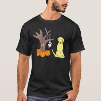 Labrador-Retriever-Gelb-Fall-Schwarz-T - Shirt