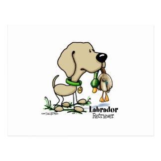 Labrador retriever - Gelb Postkarte