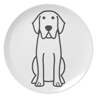 Labrador-Retriever-HundeCartoon-großer Teller
