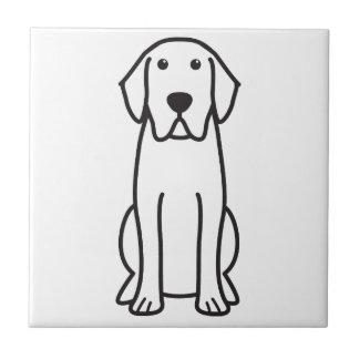 Labrador-Retriever-HundeCartoon-Keramik-Fliese Fliese