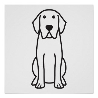 Labrador-Retriever-HundeCartoon-Plakat Poster