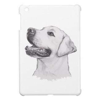 Labrador-Retriever-Hundeporträt-Zeichnen iPad Mini Hülle
