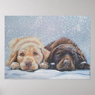 Labrador retriever-Kunst Druck Plakat