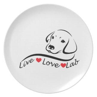 Labrador retriever-Liebhaber Melaminteller
