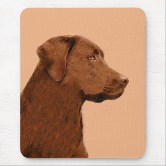 Labrador retriever (Schokolade) malend - Mousepad