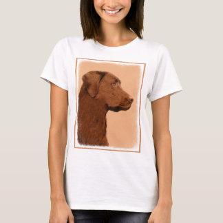 Labrador retriever (Schokolade) malend - T-Shirt