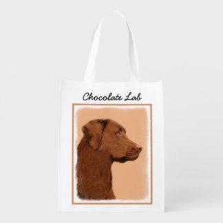 Labrador retriever (Schokolade) Wiederverwendbare Einkaufstasche