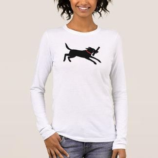 Labrador retriever (Schwarzes) Langarm T-Shirt
