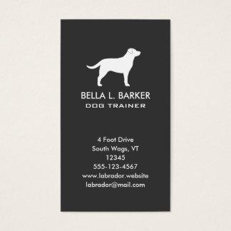 Labrador-Retriever-Silhouette-Vertikale Visitenkarten