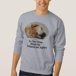 Labrador retriever und Katzen-UnisexSweatshirt Sweatshirt