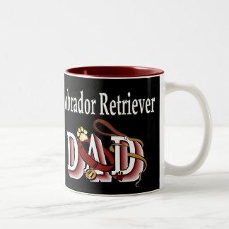 Labrador retriever-Vati-Geschenke Zweifarbige Tasse