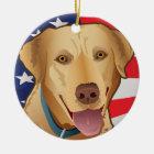 Labrador-Retriever von Amerika Keramik Ornament
