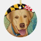 Labrador-Retriever von Maryland Keramik Ornament