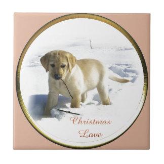 Labrador retriever-Weihnachten Fliese