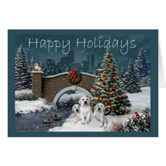Labrador retriever-Weihnachtskarte Evening10 Karte